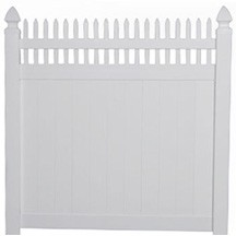 6 Tall Solid Privacy Fence With Straight Picket Top