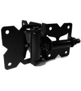 Steel Hinge Set Vinyl Gate Black