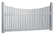 4' Tall Scalloped Picket Fence