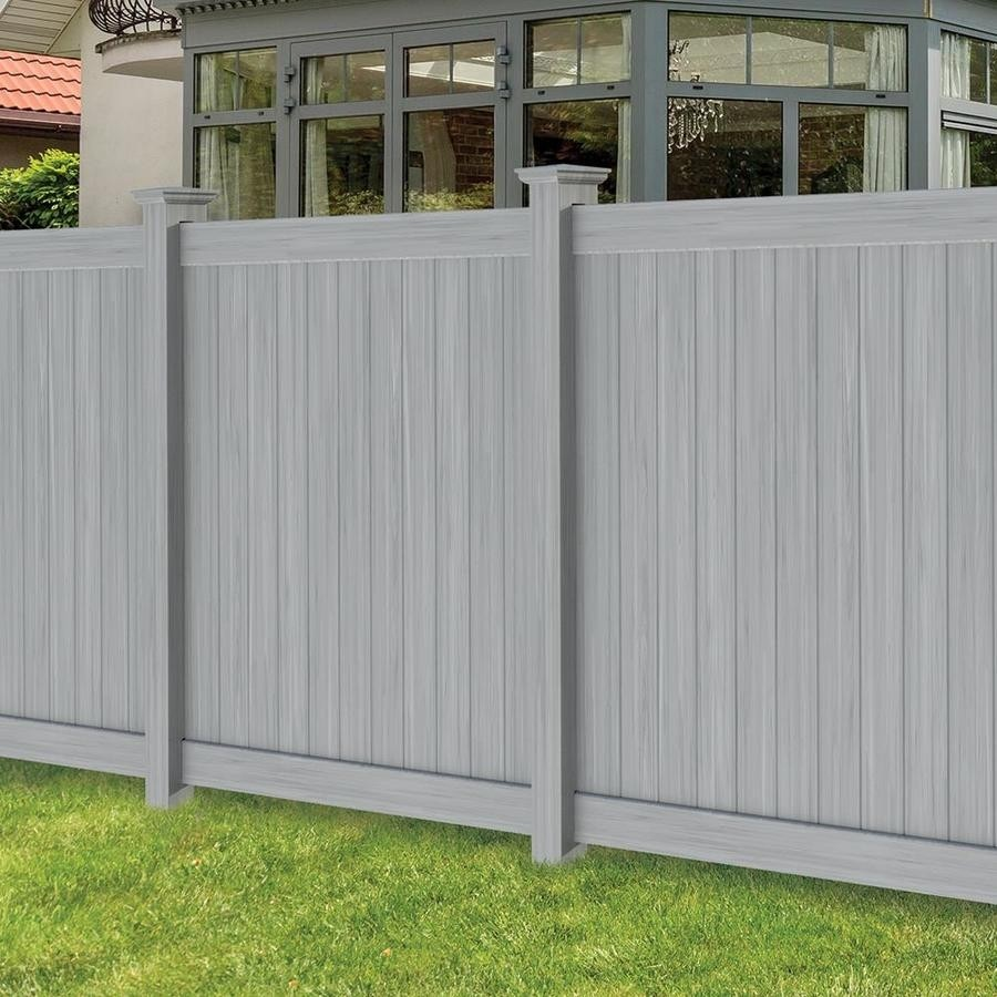 6' Tall Classic Privacy Wood Grain Gray Wood