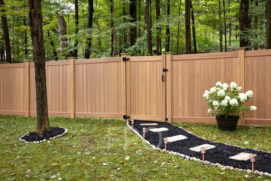 6' Tall Classic Privacy Wood Grain Natural Wood