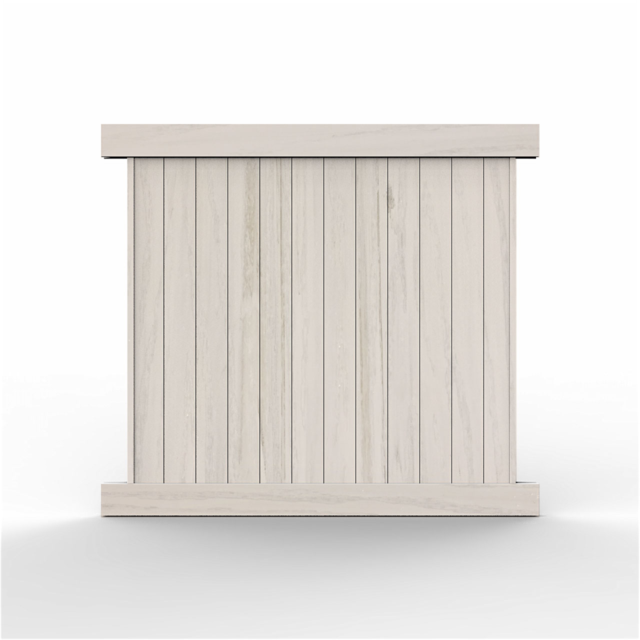 6 Tall Driftwood Smooth Vinyl Privacy Fence Privacy