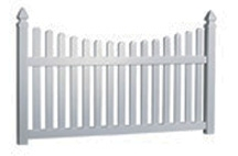 Vinyl Scalloped Picket Fence